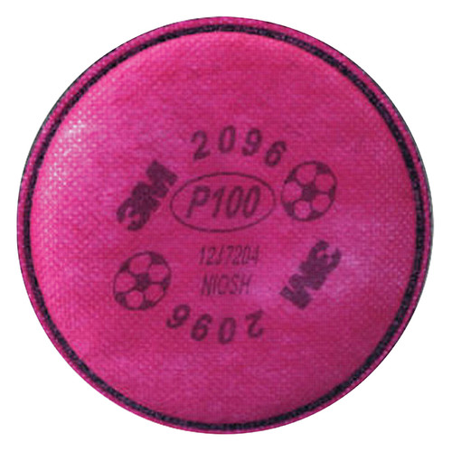3M 2096 P100 Filters For 6000 and 7000 Series Respirators (2/Package)
