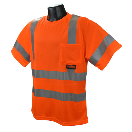 Radians ST11-3POS Orange Type Class 3 Short sleeve T-shirt w/ Max Dri