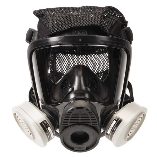 MSA 10083782 Advantage 4000 Silicone Rubber Harness Respirator (M)
