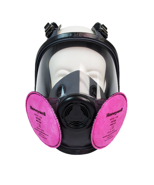 North 54001 Series Full Facepiece Low-Maintenance Respirator With P100 Filter