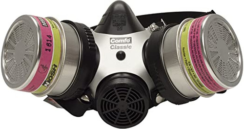 MSA Comfo Classic SoftFeel Silicone Respirator with P100 Cartridges
