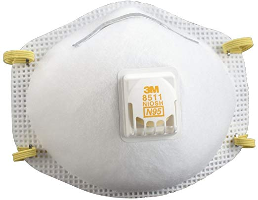 3M 8511 Cool Flow Particulate N95 Respirator with Valve (Box/10)