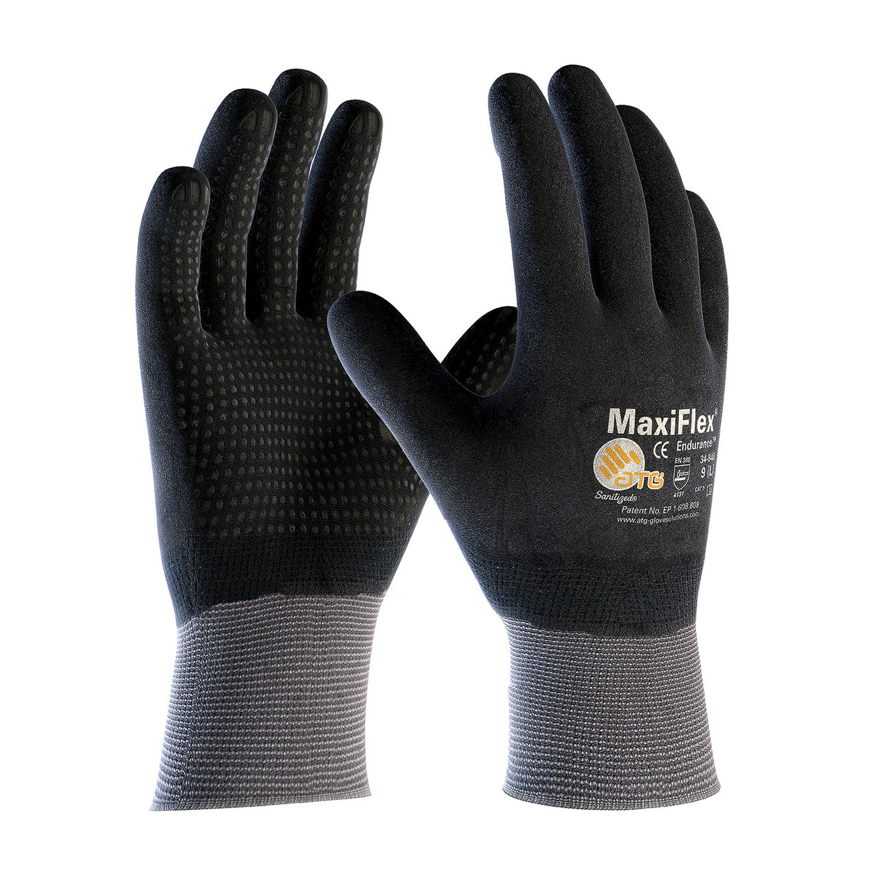 MaxiFlex 34-846 Gloves with Nitrile Micro-Foam Grip on Full Hand(Pair)
