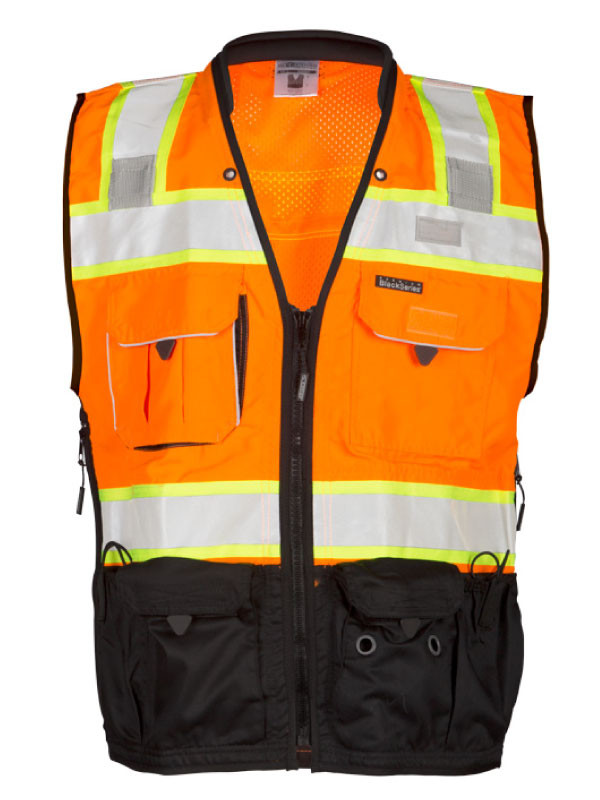 ML Kishigo S5003 Class 2 Orange Surveyors Safety Vest