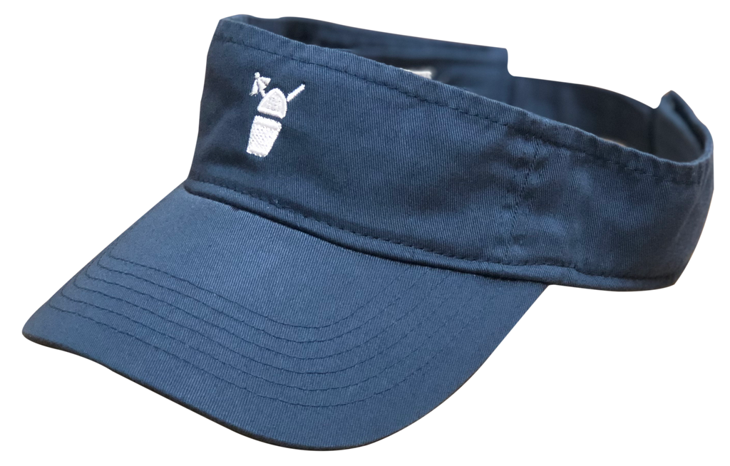 Denim Blue Visor with White Snolo