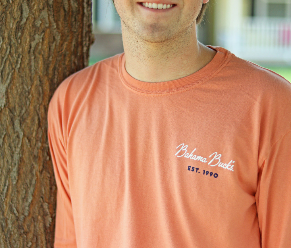 Front detail of Terracotta Long Sleeve Tee