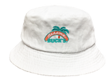 White Bahama Buck's Bucket Hat