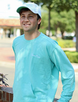Boy wearing Chalky Mint Pullover