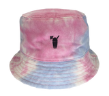 Cotton Candy Tye-Die Bucket Hat with Black Snolo