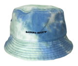 Sky Blue Tye-Die Bucket Hat with Black Snolo