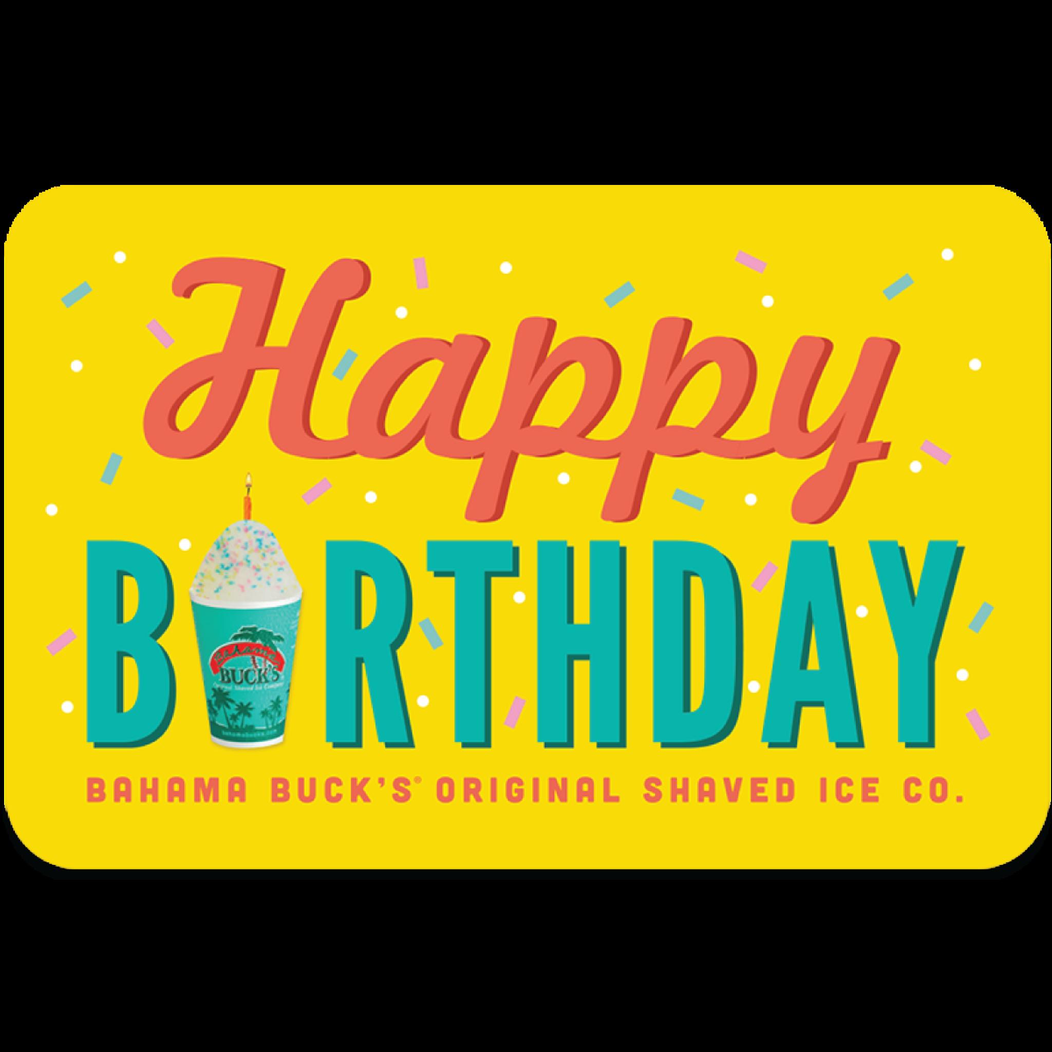 Happy Birthday Gift Card Bahama Bucks Estore