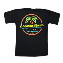 Back of neon sign tee