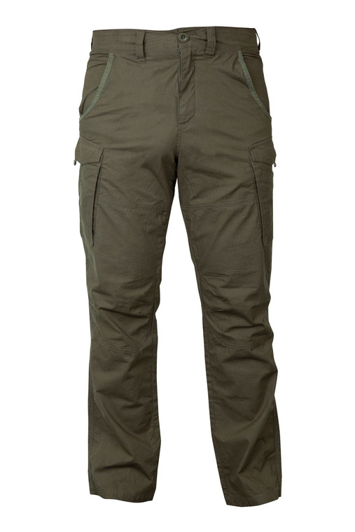 Fox Collection Green & Silver Combat Trousers