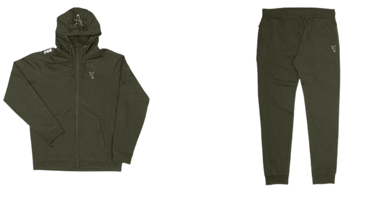 Fox Collection Green & Silver Lightweight Hoody & Jogger Combo