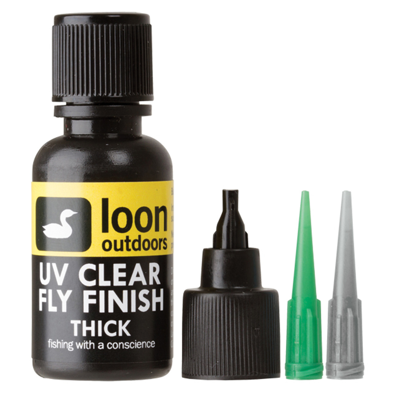 Loon Outdoors, UV Curing Clear Fly Tying Finish, Thick (Choose Size)