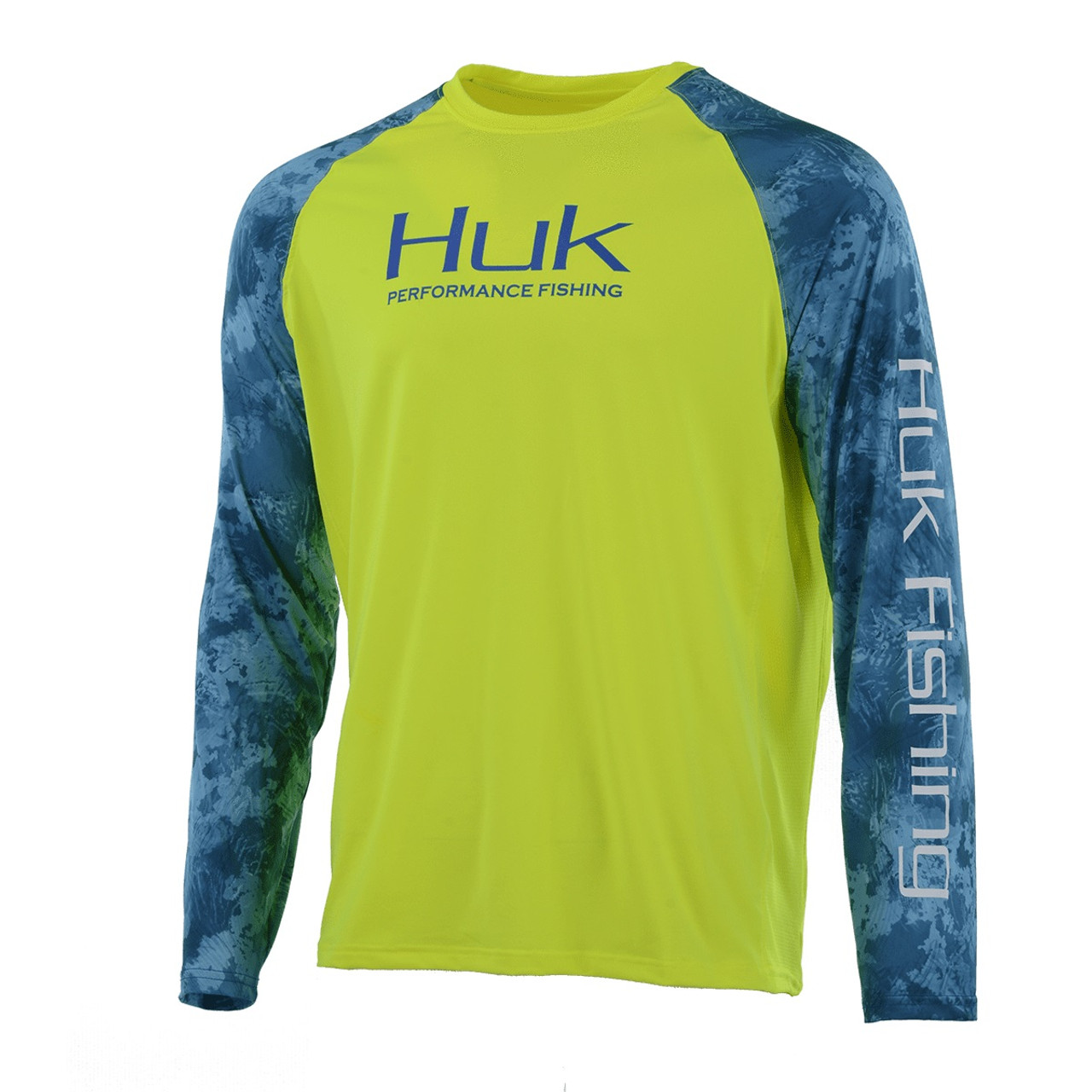 Huk Men's Double Header Raglan Vented Long Sleeve Shirt H1200136