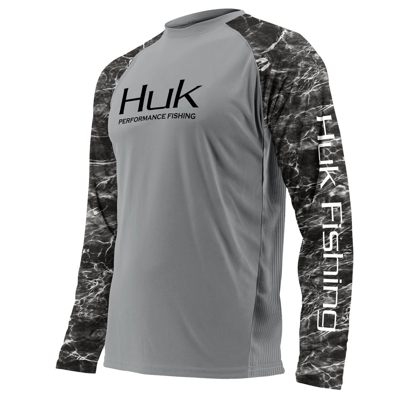 Huk Men's Double Header Raglan Vented Long Sleeve Performance Shirt H1200136