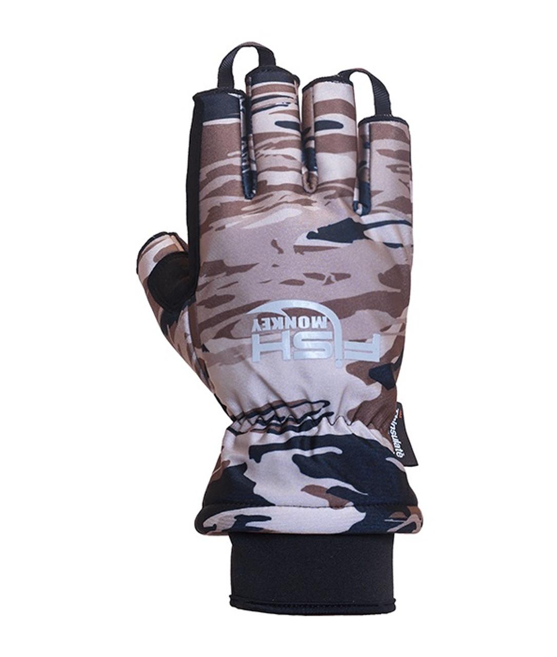 Fish Monkey FM26 Tundra II Premium Insulated Half-Finger Fishing Gloves