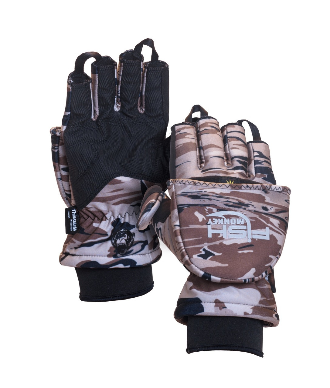 Fish Monkey FM25 Tundra Premium Insulated Mitten Fishing Gloves
