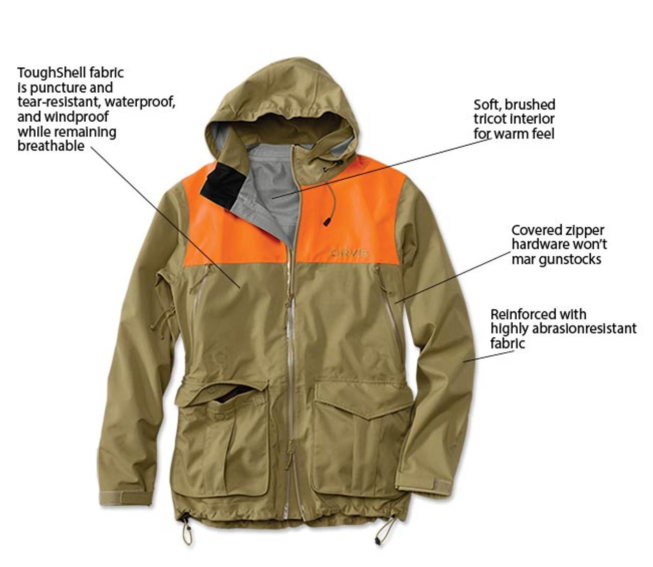 Orvis Toughshell Waterproof Upland Hunting Jacket 2FP3