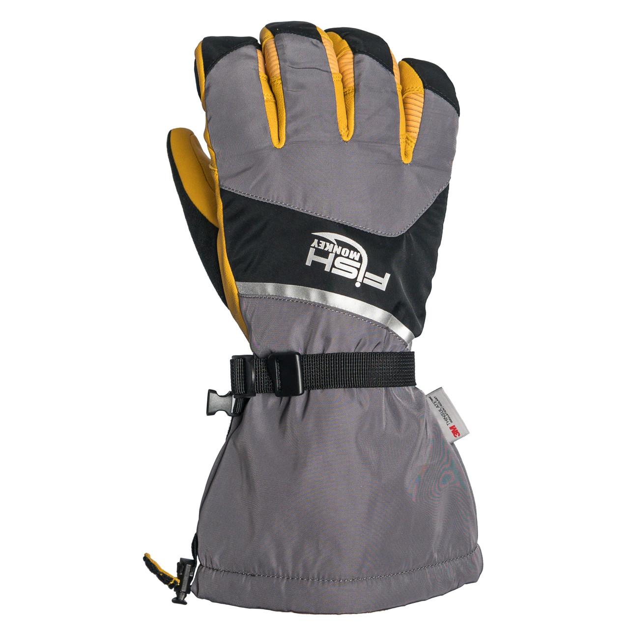 Fish Monkey FM37 Men's Yeti Premium Ice Fishing Gloves