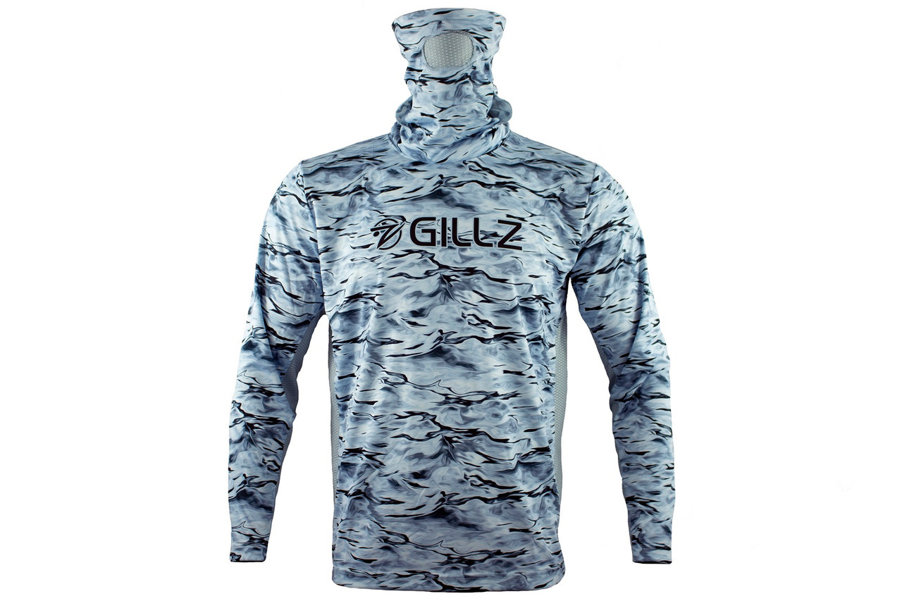 Gillz Men's UV Pro Striker Long Sleeve Shirt, Stormy Seas
