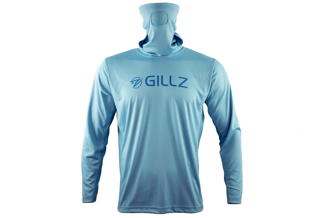 Gillz Men's UV Pro Striker Long Sleeve Shirt, Air Blue