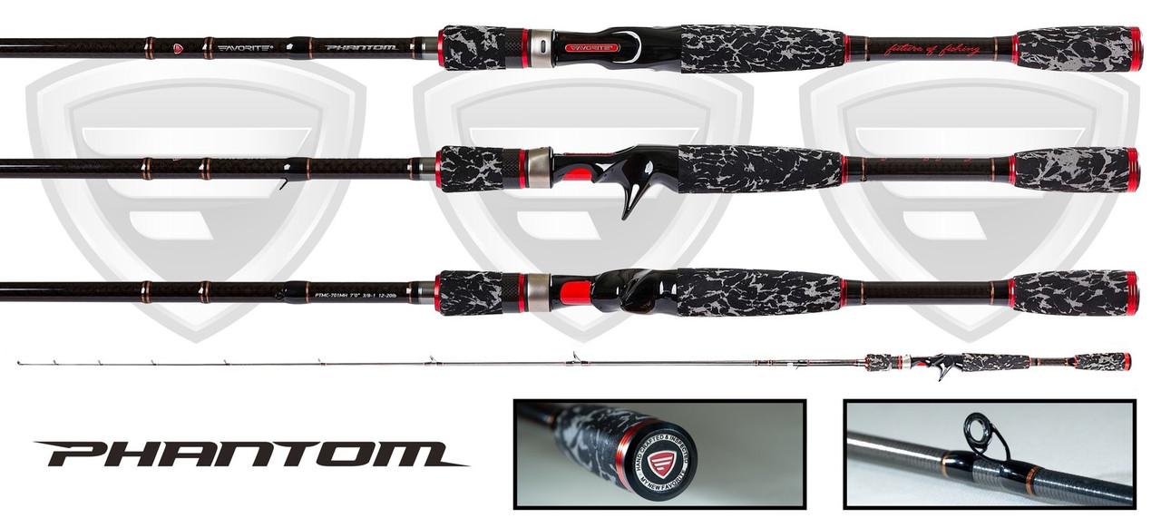 """Favorite Rods """"Phantom"""" Bait Casting Fishing Rod"""