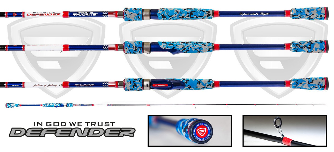 "Favorite Rods ""Defender"" Spinning Fishing Rod"