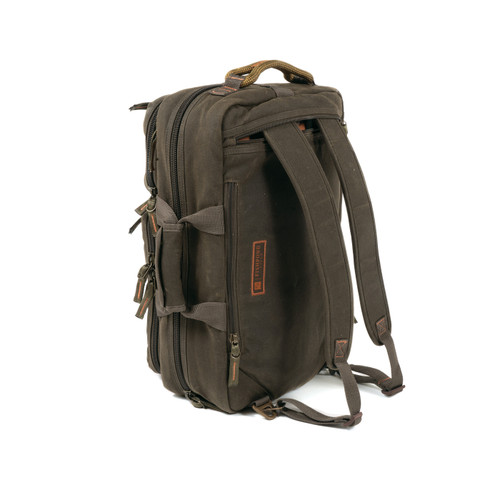 Fishpond Boulder Waxed Canvas Briefcase, Peat Moss