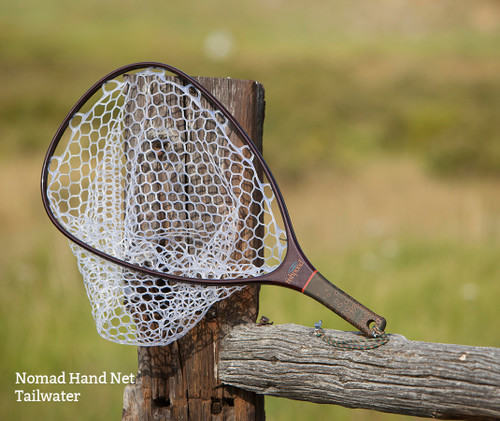 Fishpond Fly Fishing, Carbon Fiber / Fiberglass Nomad Hand Net, Rubber Mesh