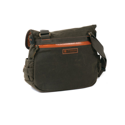 ishpond Lodgepole Waxed Canvas Satchel, Peat Moss