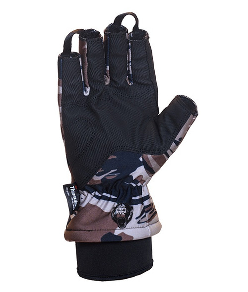 Fish Monkey FM26 Tundra II Premium Insulated Half-Finger Fishing Gloves