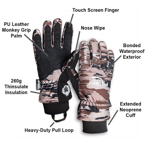 Fish Monkey Tundra Waterproof Premium Insulated Fishing Gloves