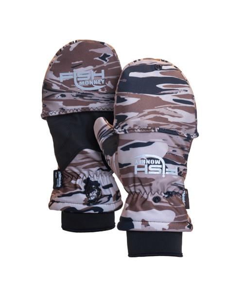 Fish Monkey FM25 Tundra Premium Insulated Mitten Fishing Gloves