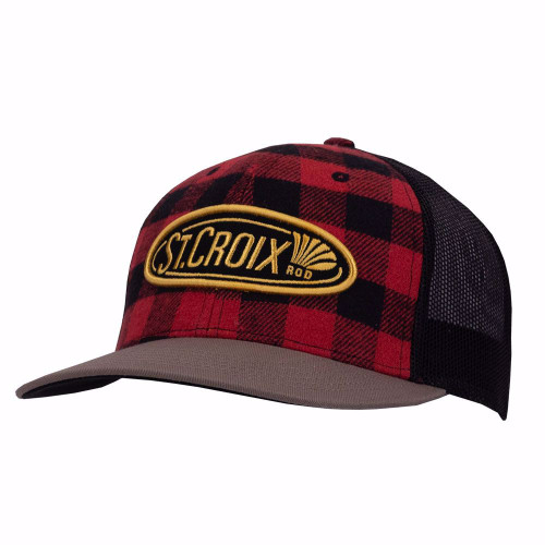 "St. Croix Rods ""Rustic"" Buffalo Plaid Fishing Cap"