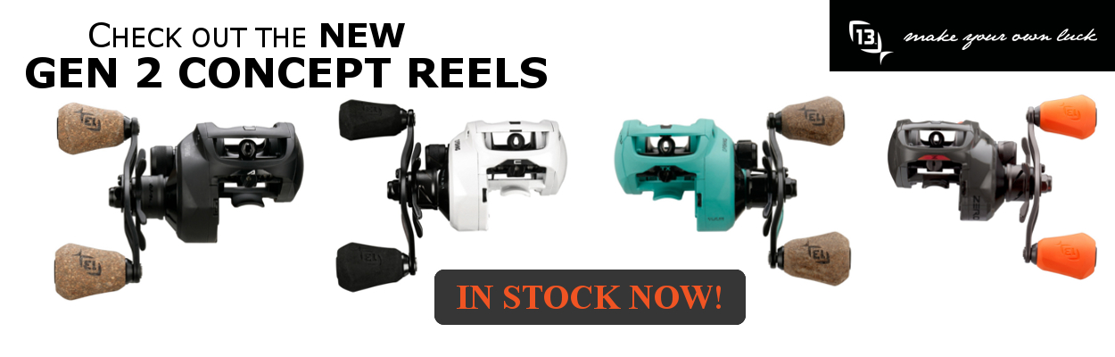 13 Fishing Gen 2 Concept Bait Casting Reels now available