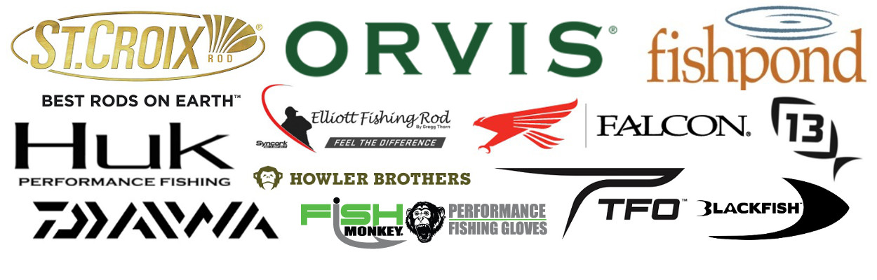 Swanson's fishing brands we carry include St. Croix, Orvis, Fishpond, Huk, Elliott Rods, Falcon Rods, 13 Fishing, Daiwa, Howler Bros, Fish Monkey Gloves, TFO Rods, Blackfish and more!