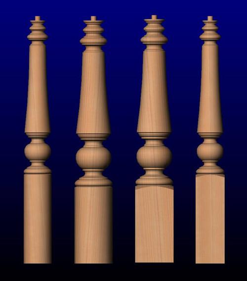 K05 Series Wood Newel Posts-Large Newel Posts-Oversized Newel Posts-Unique Newel Posts