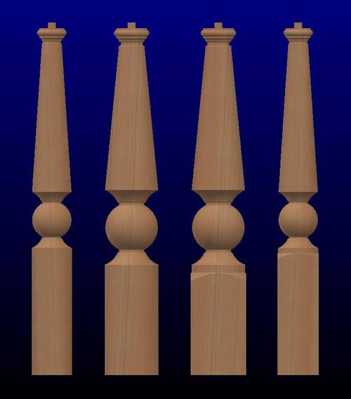 K04 Series OPT Wood Newel Posts-Stairway Posts and Newels-Large Newel Post
