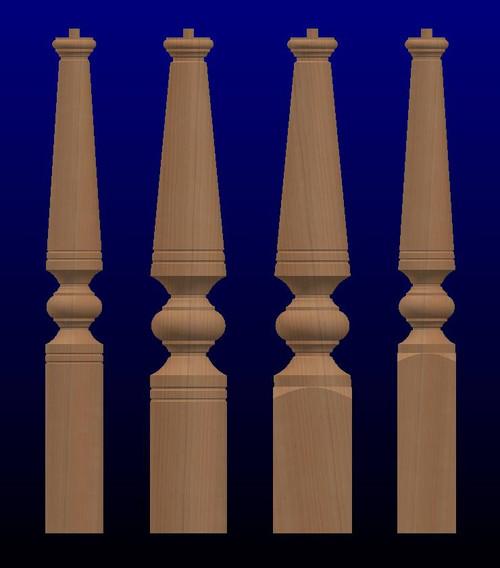 K03 Series Large Turned Newel Posts-Oversized Newel Posts-Wood Newel Posts