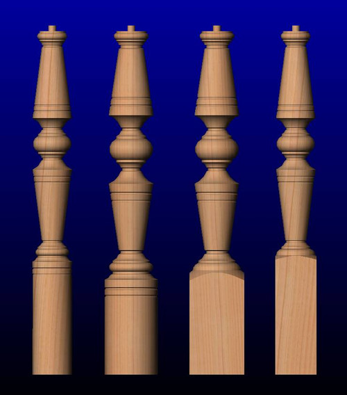 K01 Series OTP Series Staircase Newel Posts Turned Newel Post Designs