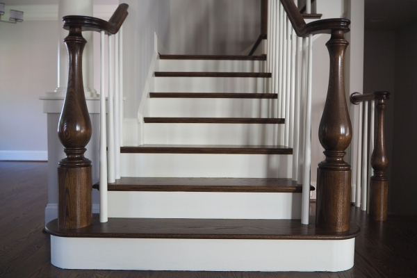 Large Newel Posts-Oversized Newel Posts-Turned Newel Posts