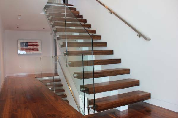 Thick Wood Stair Treads-Walnut Thick Treads