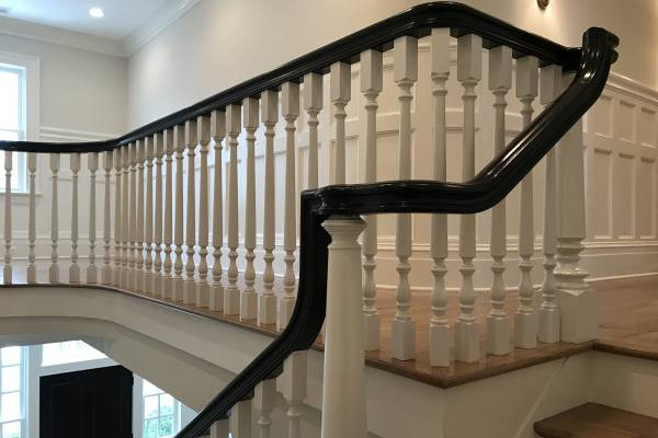 Primed Wood Balusters-Painted Wood Handrail