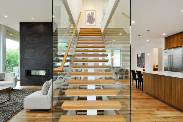 2.5 inch Thick Stair Treads-White Oak Thick Stair Treads