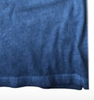 Men's Long Sleeves Crew Neck T-Shirt Color Capri Blue / Dyed Washed Made in USA 100% Cotton