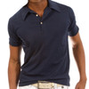 Luxury Polo Short Sleeves Pima Cotton Mens Polo round collar Navy POSS-5013