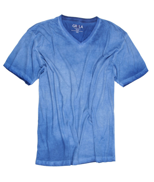 Men's Short Sleeves T-Shirt Color Royal Blue / Vintage Washed Sizes S - XXL 60% Cotton / 40% Polyester