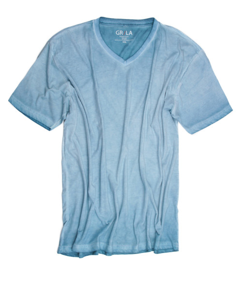 Men's Short Sleeves T-Shirt Color Mint / Garment Dyed Sizes S - XXL 60% Cotton / 40% Polyester
